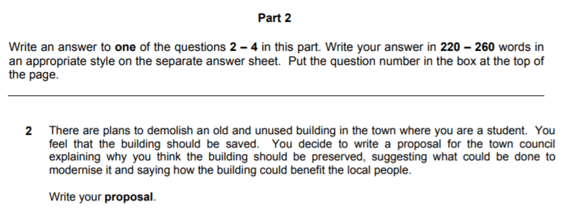 CAE Proposal Question
