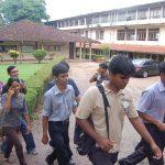 students walk at University of Sri Jayewardenepura