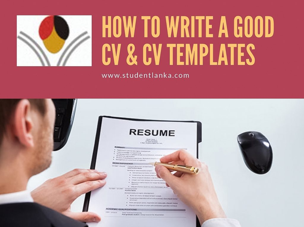 CV templates How to write a successful