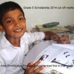 Grade 5 Scholarship 2014 cut off marks for Popular Schools