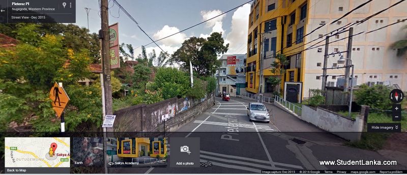 google street view sri lanka sakya insitute