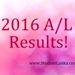 A/L 2016 Exam results release date? before 21 January 2017