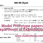 Download Prototype Model Questions for New GCE A/L Exam 2019 afterwards