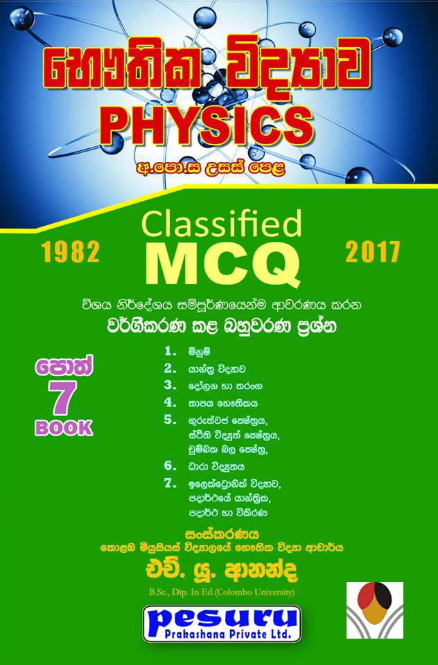 A/L Physics Classified MCQ and Answers 1985-2018