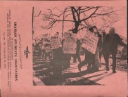 Back Cover of The Iranian Studentst Association Pamphlet 1 Shows Students Demonstrating Against the Shah in the United States