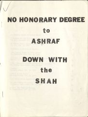 Front Cover of Pamphlet 2 Issued by the Iranian Students Association