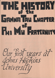 Phi Mu History Pamphlet, 1986