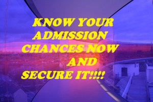 KNOW IF YOU WILL BE ADMITTED THIS YEAR