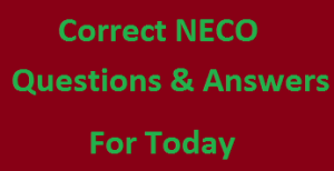 NECO Government exam expo answers for Theory (paper 2) & OBJ (paper 1)