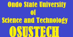 Ondo State University of Science and Technology (OSUSTECH) Admission List