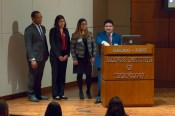HLLSA officers introducing the Honorable Maria Valdez