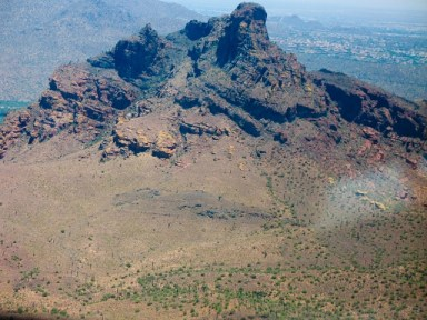 Red Mountain from the air.
