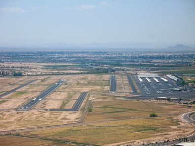 On final approach, 22R, at Chandler (CHD)