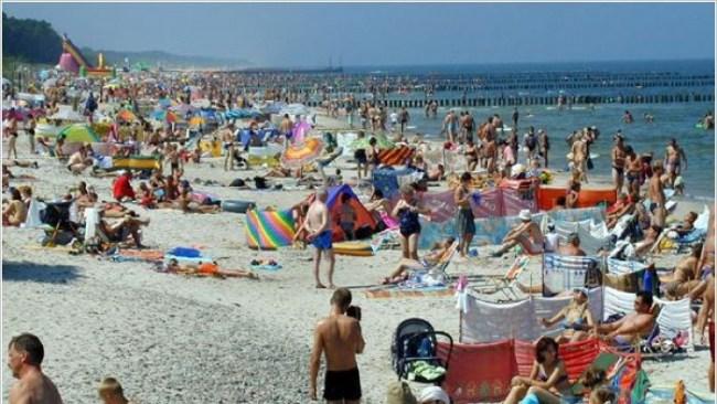 Курорт Дзвижино, пляж летом