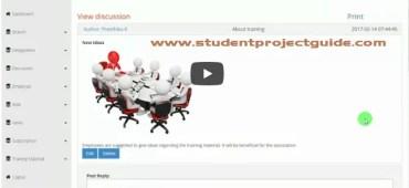 Employee Association System Video Demonstration