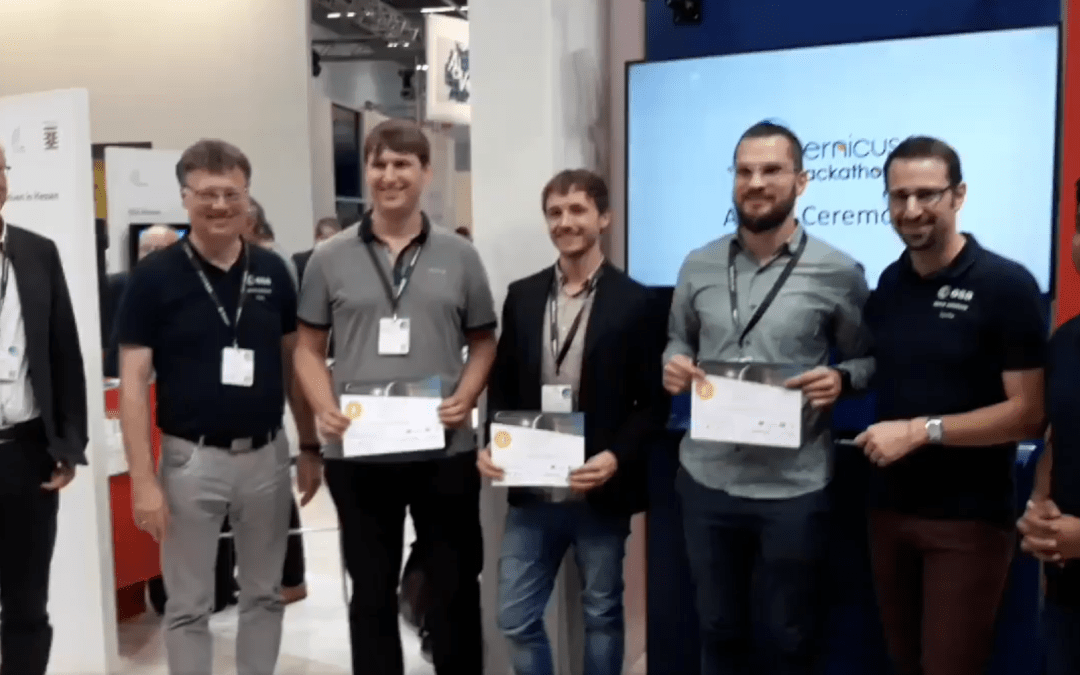 Two 2016 EAGLE students win ESA Copernicus Hackaton 2018 in Darmstadt