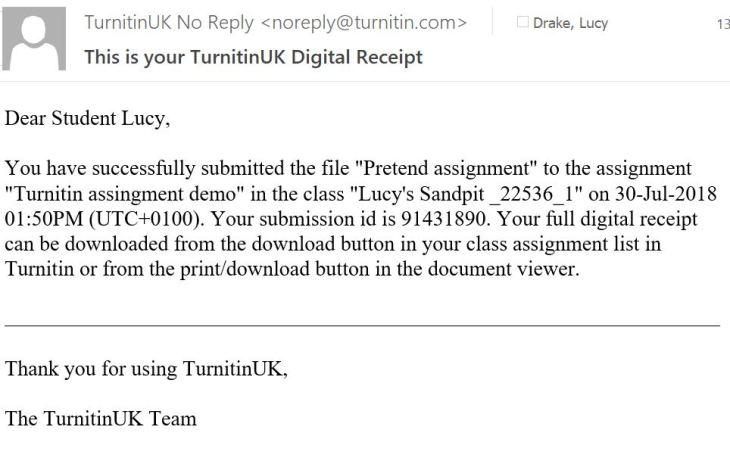 TurnitinUK Digital Receipt