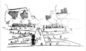 sketch of the quad