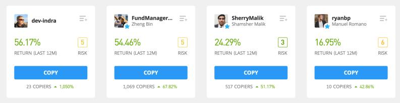 Find people on eToro Copy Trading