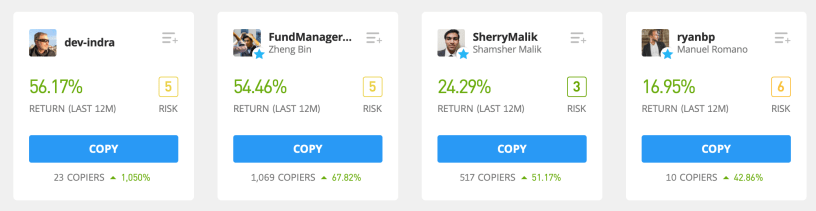 Find people on eToro Copy Trading