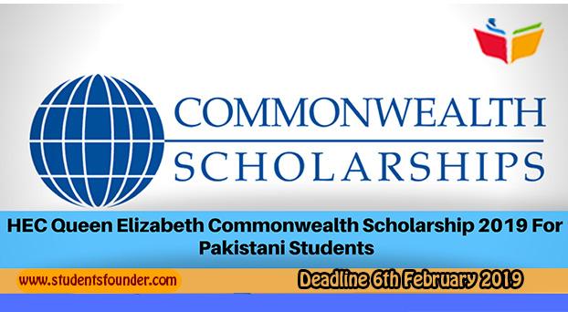 HEC Queen Elizabeth Commonwealth Scholarship 2019 For MS