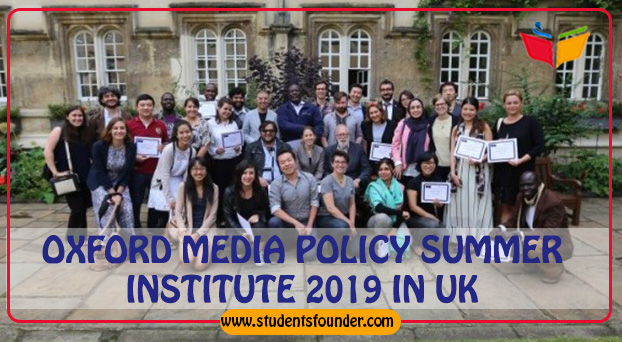 OXFORD MEDIA POLICY SUMMER INSTITUTE 2019 IN UK – SCHOLARSHIPS AVAILABLE