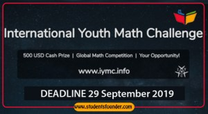INTERNATIONAL YOUTH MATH CHALLENGE 2019 – WIN AWARDS & CASH PRIZES WORTH 700 USD