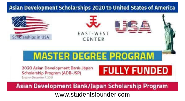 Asian Development Scholarships 2020 [Fully Funded] to United States of America