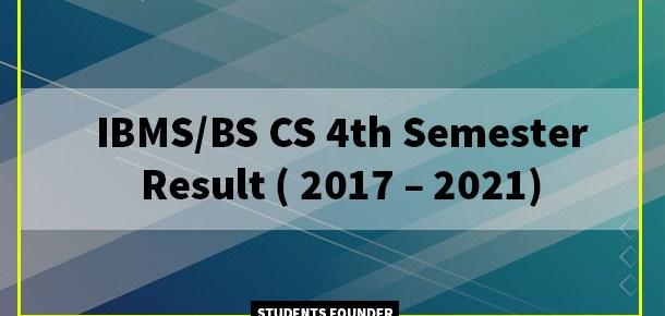 BS-CS-4th-Semester-Result