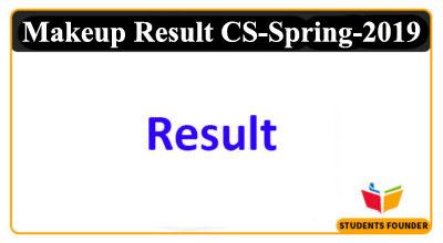 Makeup Result CS Spring 2019