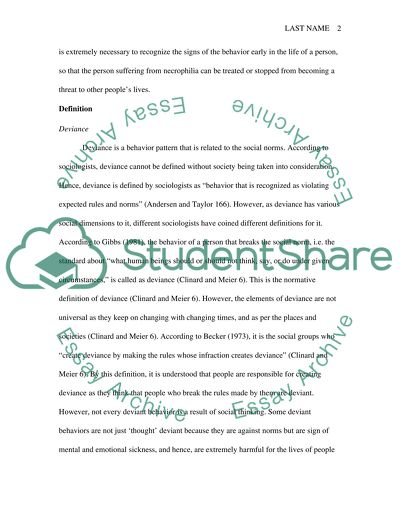 Deviant Behavior Essay Research Paper Example Topics And
