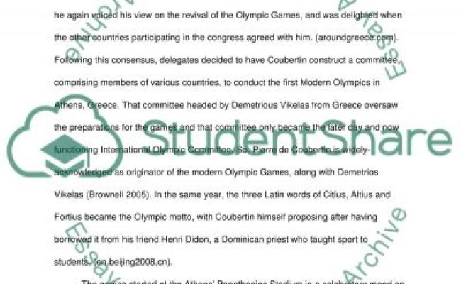 The Olympic Games Essay Example Topics And Well Written