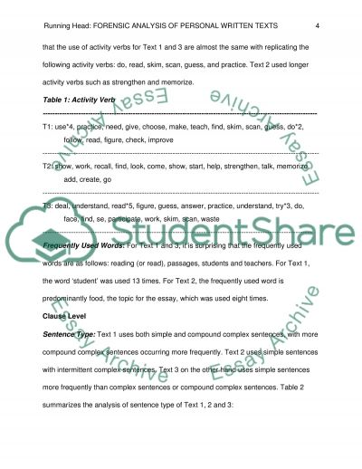 Forensic Analysis Of Personal Written Texts Research Paper 1