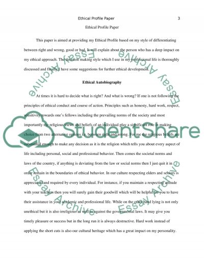 Ethical Profile Research Paper Example Topics And Well Written