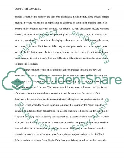 Understanding Computer Concepts Common Features Research Paper