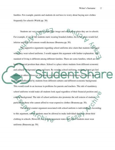 Persuasive Argument Essay About Should Students Have To Wear Uniforms