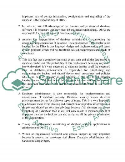 Essay Database Questions On Information Technology Assignment
