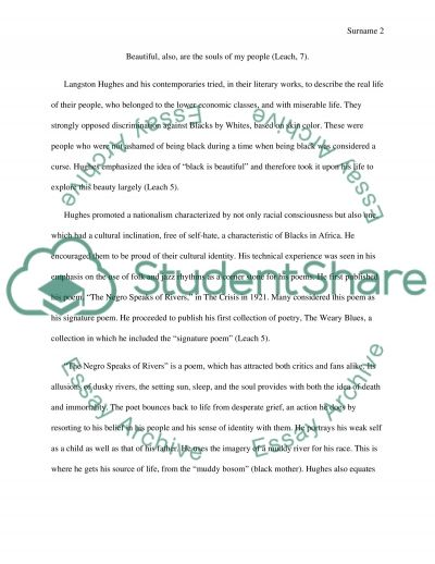 Poetry Research Paper On Langston Hughes Essay Example Topics And