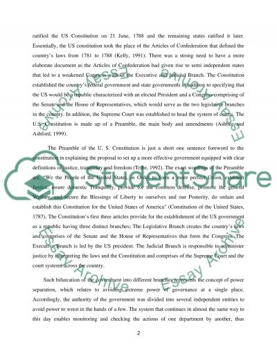 Government Essay U S Government And Politics Constitution Essay
