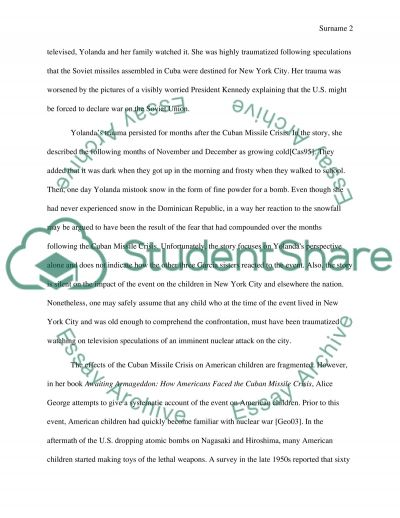 Research Paper Based On The Short Story Snow By Julia Alvarez
