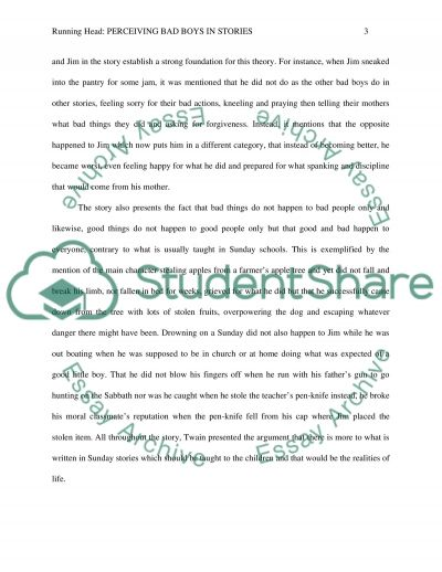 The Bad Little Boy By Mark Twain Essay Example Topics And Well