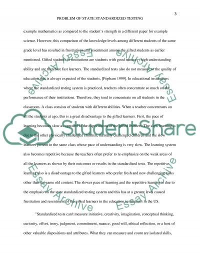APA Research Paper On State Standardized Testing For Eng 102 Class
