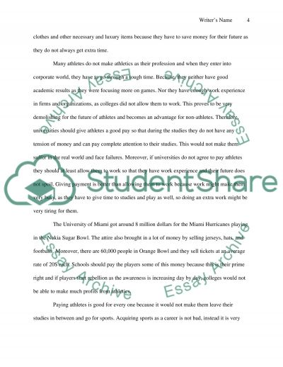 Paying College Athletes Essay 5 Essay Writing Tips To Should College