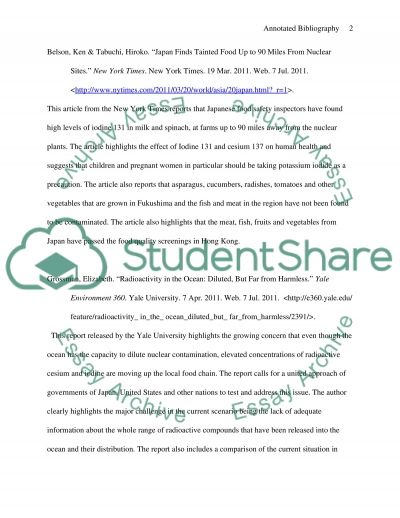 Annotated Bibliography Environmental Effects Of Nuclear Power Plant