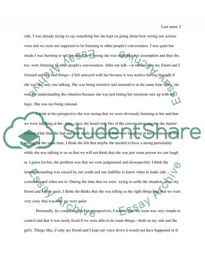 Essay Conflict Interpersonal Conflict Essay Example Topics And Well