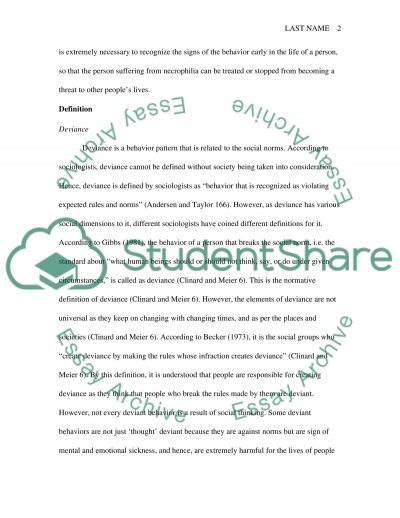 Deviant Behavior Essay Deviant Behavior Essay Research Paper Example