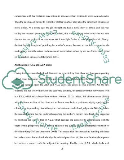 Ethical Case Study Analysis Paper Research Example