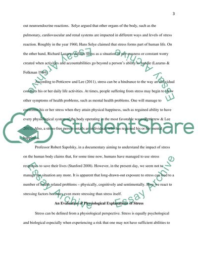 Stress Essay Example   Topics and Well Written Essays ...