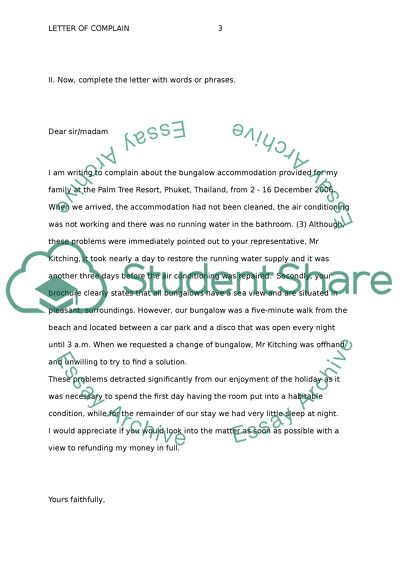 Complaint Letters Worksheet - Free ESL Printable Worksheets