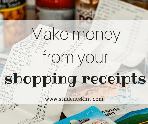 Make money from receipts